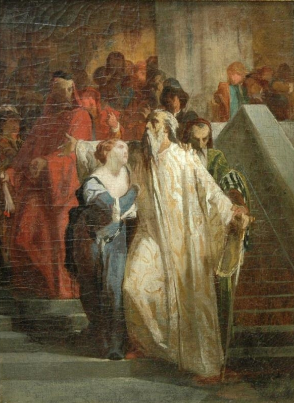 Eugene Delacroix. Doge Marino Faliero against the Venetian nobility