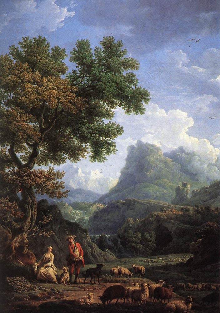 Клод Жозеф Верне. Пастух в Альпах