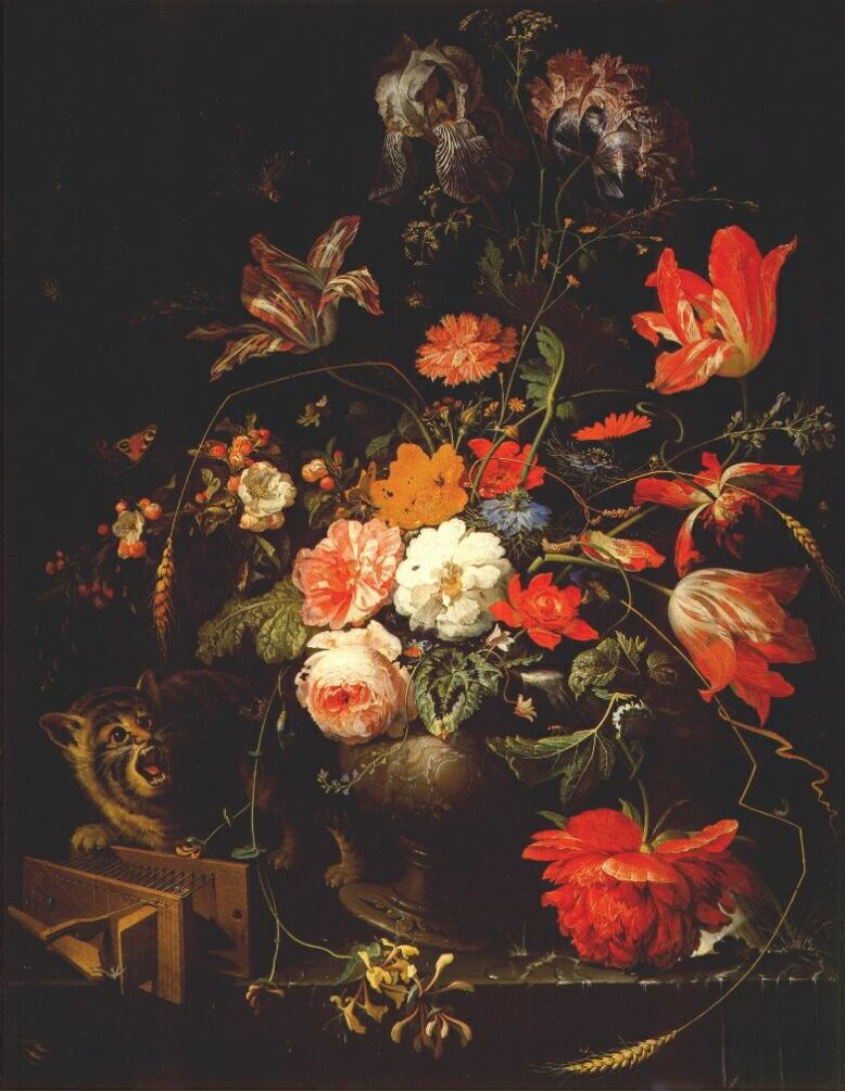 Abraham Mignon. Still life with flowers