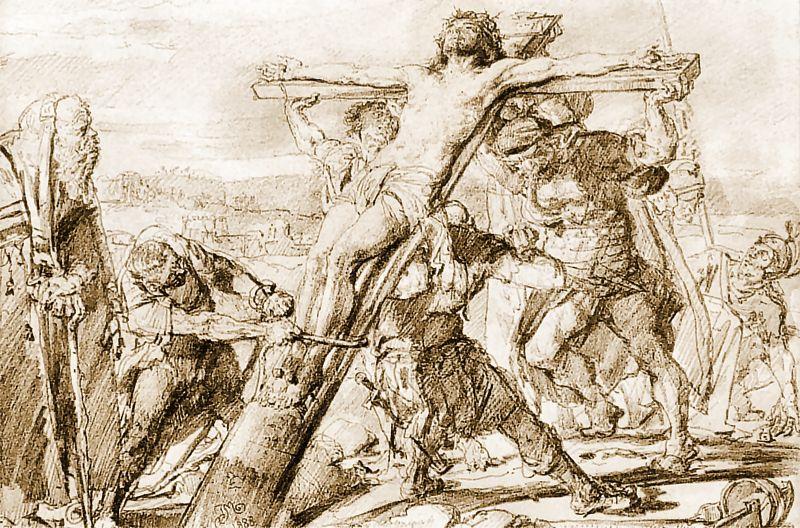 Ян Матейко. Распятие Иисуса. Эскиз для церкви святого Норберта в Кракове