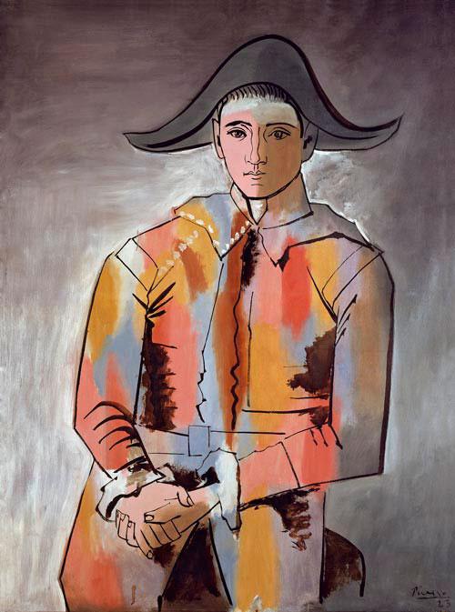 Пабло Пикассо. Арлекин со сложенными руками