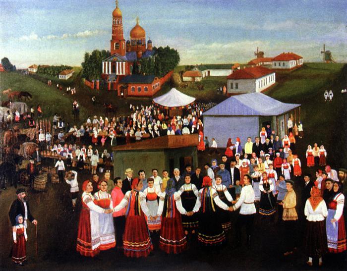 Mikhail Sergeevich Kramskoy. Fair in Toponya