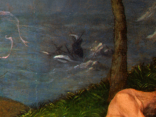 Lorenzo Lotto. Allegory of virtue and Vice (detail)