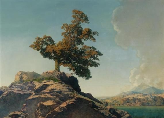 Максфилд Пэрриш. Дерево на скале