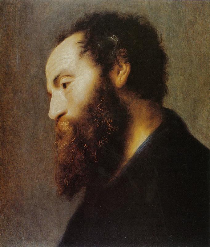 Jan Lievens. Portrait of a man with a beard