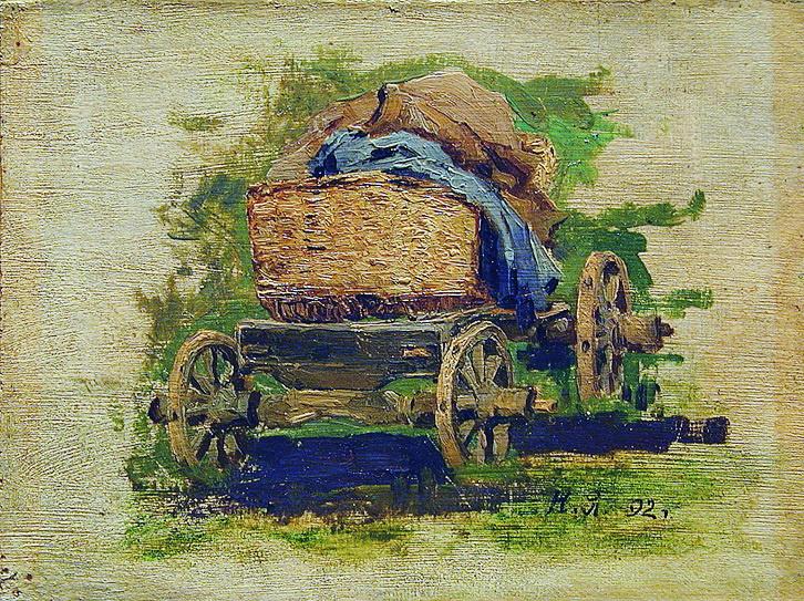 Nikolay Aleksandrovich Yaroshenko. Cart. 1880s Study
