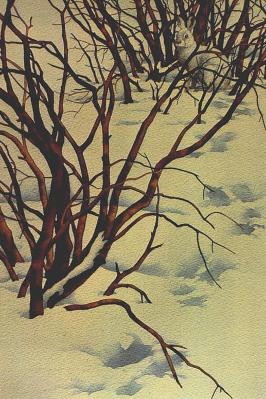 Bev Doolittle. Footprints in the snow