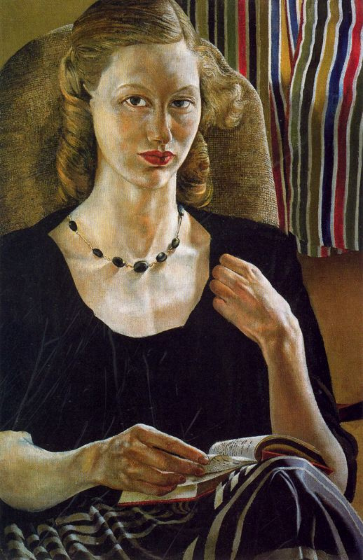 Stanley Spencer. Girl with a book