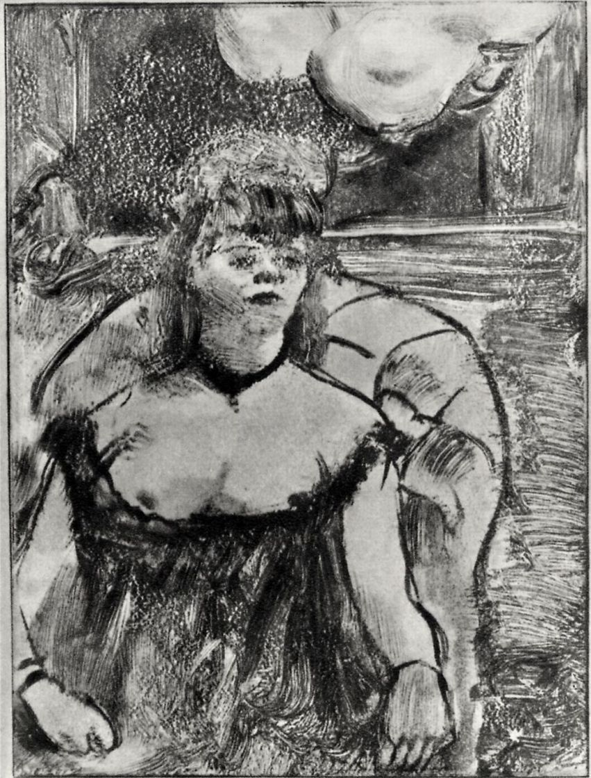 Edgar Degas. The prostitute in the chair
