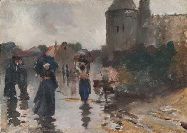 Лев Самойлович Бакст (Леон Бакст). Улица в дождь. Франция