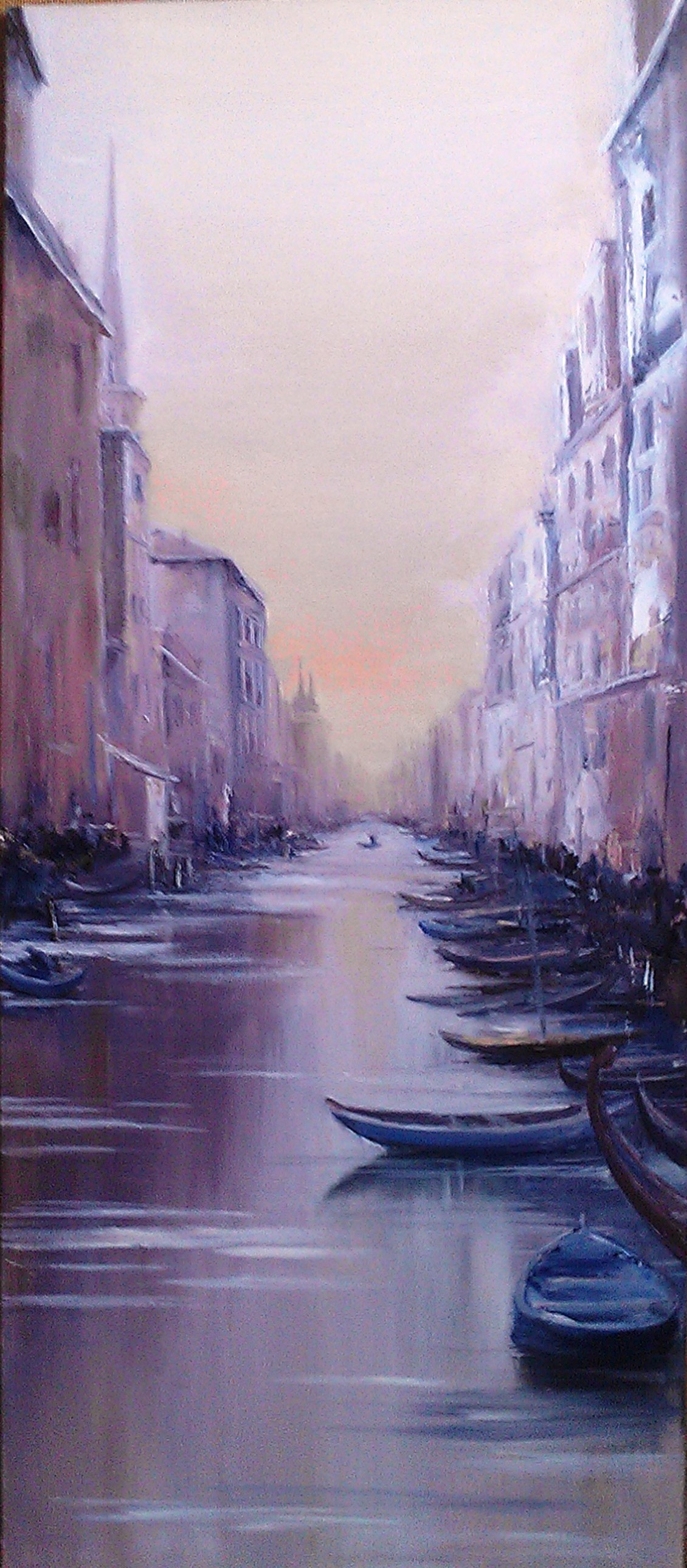 Lydia Lee. Morning in Venice oil on PVC