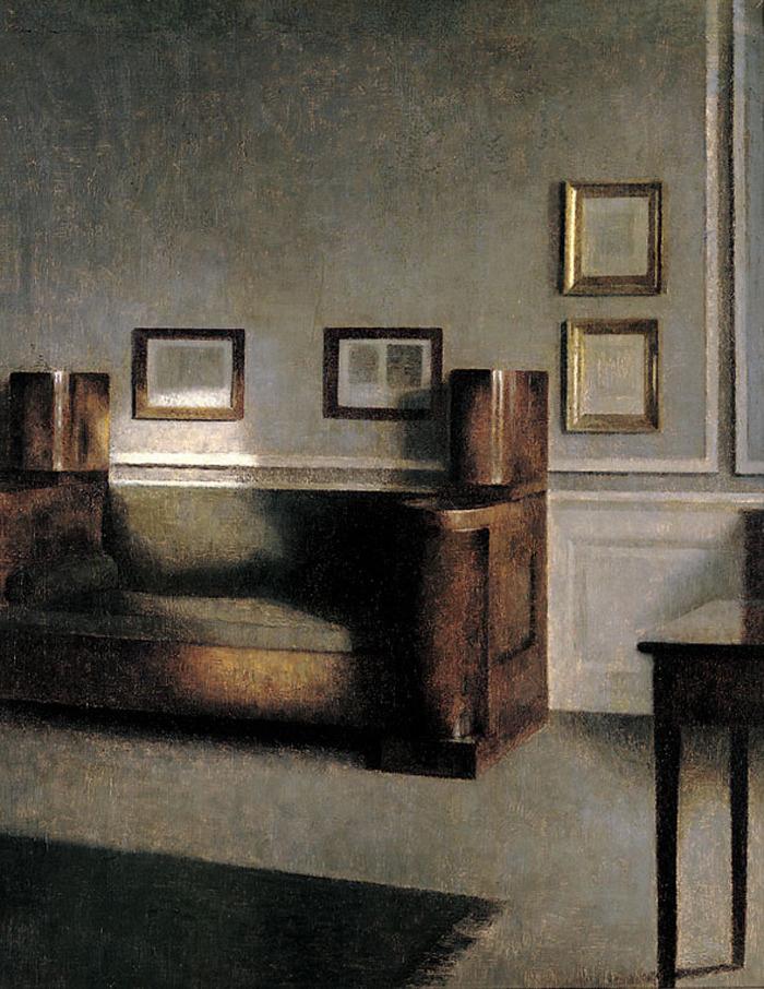 Vilhelm Hammershøi. Sunny room