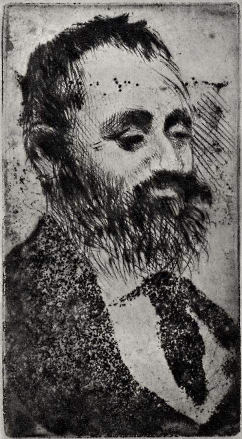 Edgar Degas. Portrait Of Alphonse Hirsch