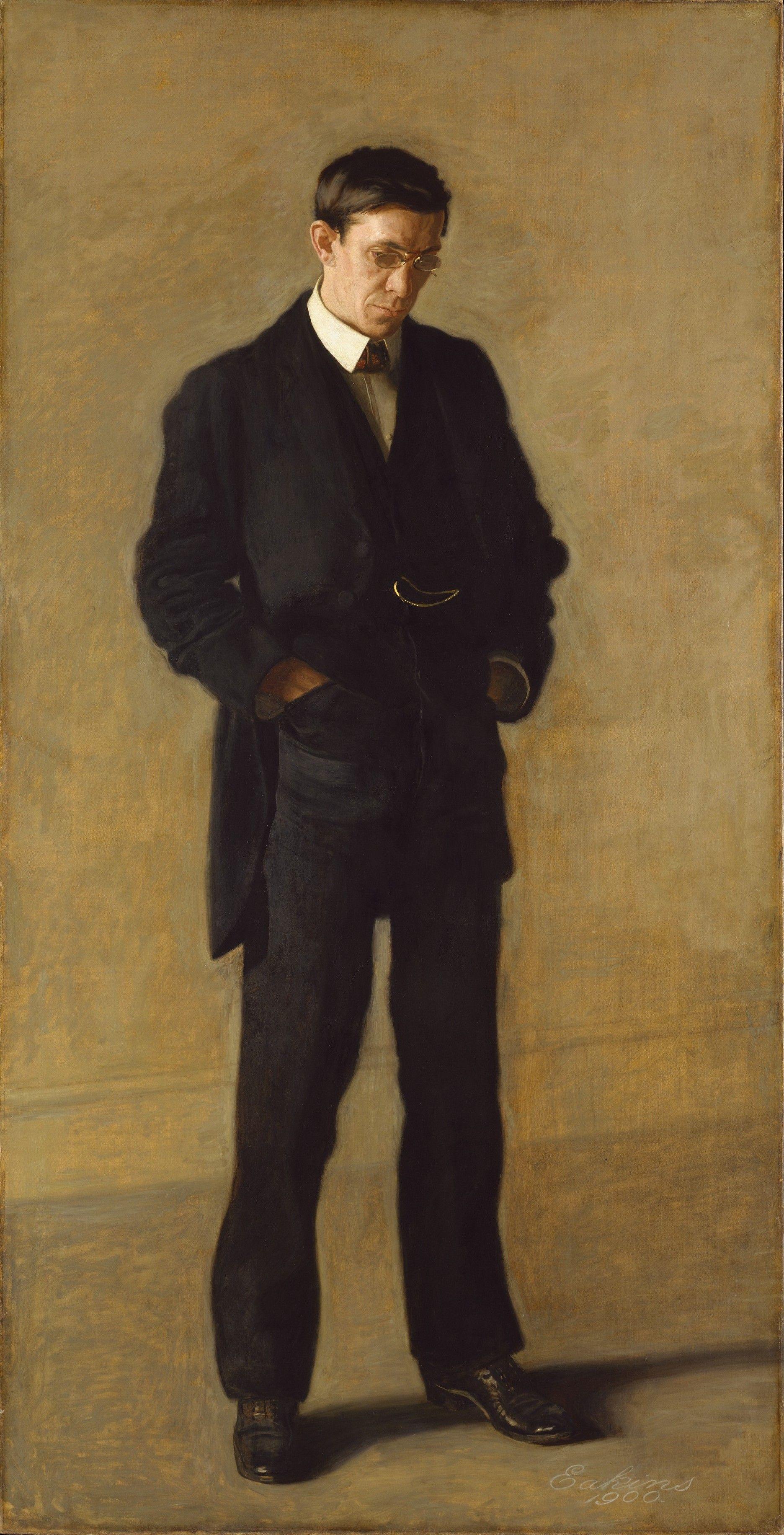 Thomas Eakins. The thinker, portrait of Louis N. Kenton