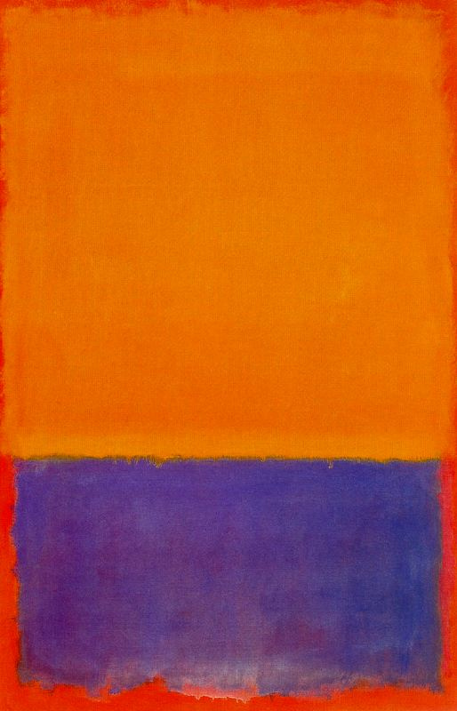 Rothko Mark. Untitled (Yellow and blue)