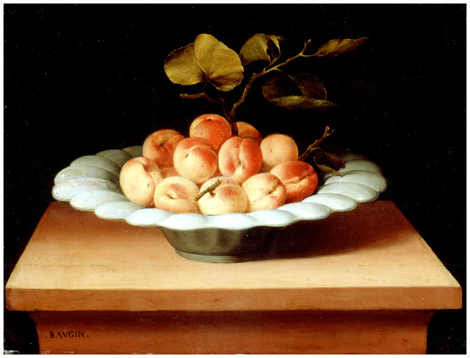 Luben Bozhen. Still life with apricots