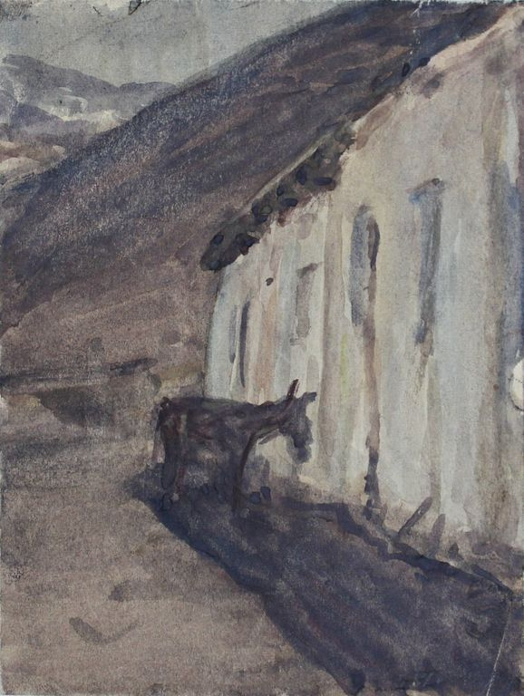 Andrey Mikhailovich Ponomarev. A donkey