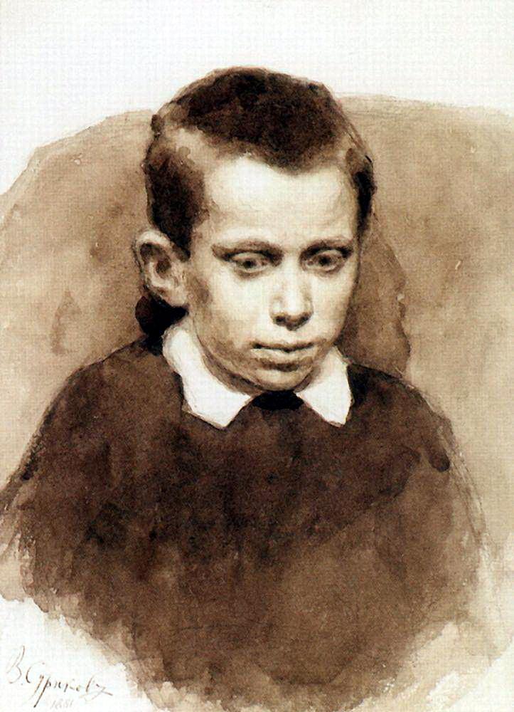 Василий Иванович Суриков. Портрет Матвеева в детстве