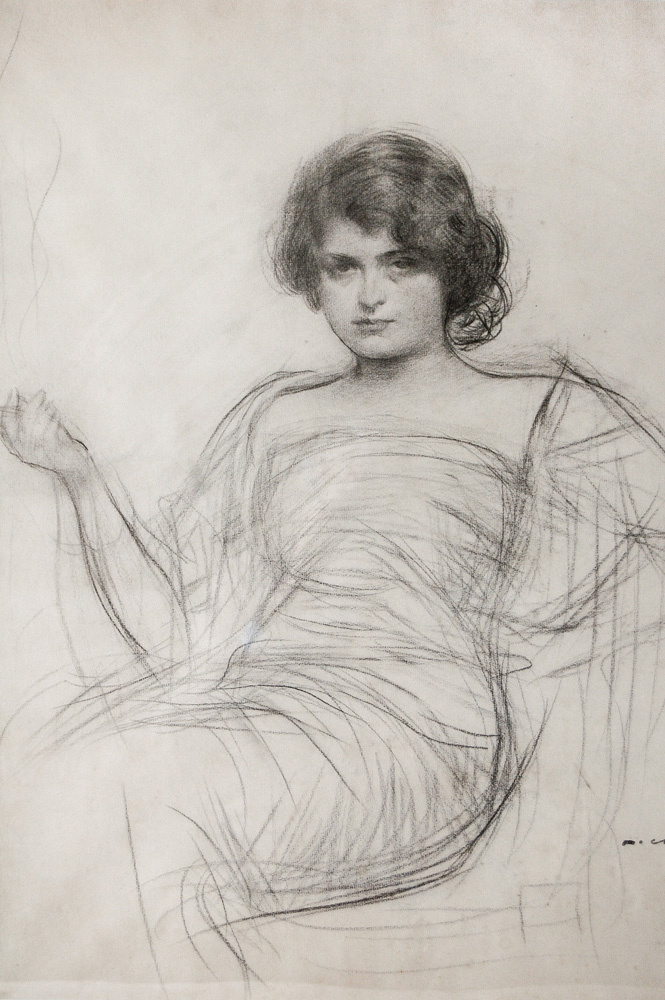 Ramon Casas i Carbó. Portrait of Julia