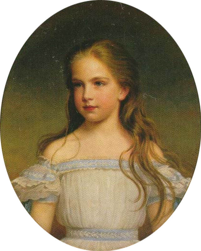 Unknown artist. Duchess of Gisela of Austria as a child