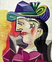 Пабло Пикассо. Женщина в голубой шляпе