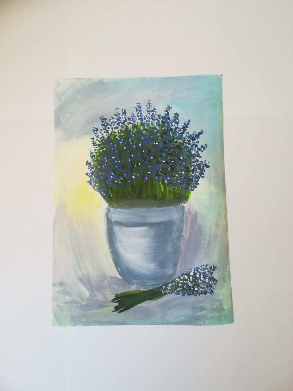 Lilia Korenkova. Lavender in a pot