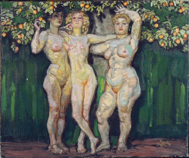 Франтишек Купка. Осеннее солнце, три богини