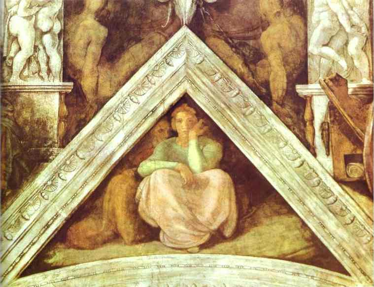 Микеланджело Буонарроти. Предки Христа. Джесси, Давид и Соломон