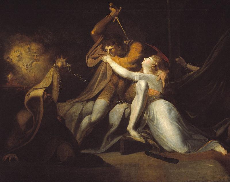 Johann Heinrich Fuessli. Percival frees Belisane from the magic fetters urma