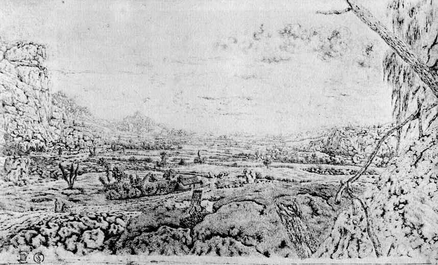 Херкюлес Питерс Сегерс. Горная долина с отгороженным полем