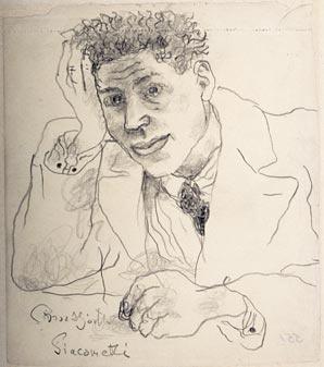 Брор Хъерт. Мужской портрет