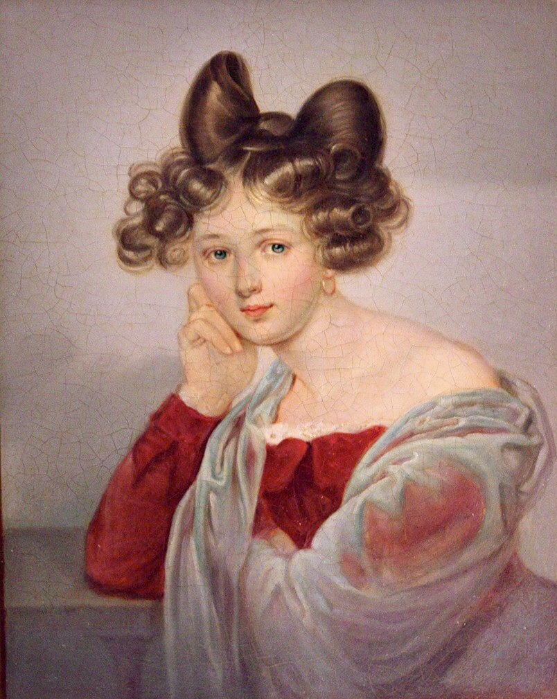 Unknown artist. Portrait of Eleanor Tyutcheva, nee. Countess Bothmer. Late 1820s
