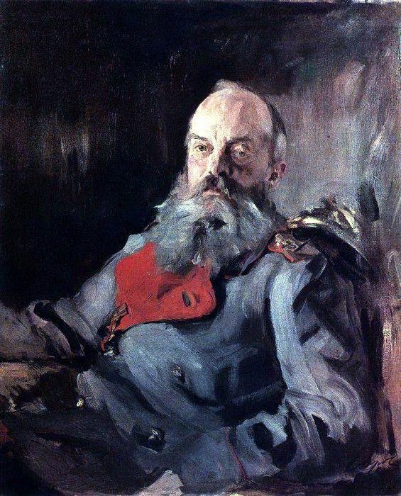 Валентин Александрович Серов. Портрет Великого Князя Михаила Николаевича в тужурке