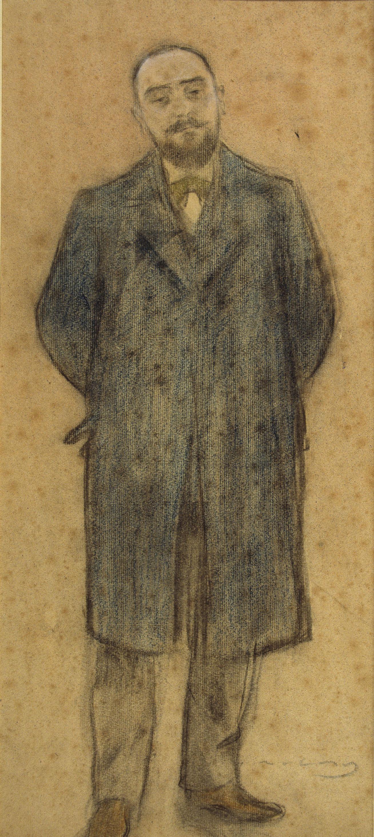 Ramon Casas i Carbó. Portrait of Bonaventure Basegoda