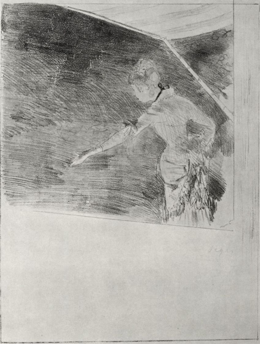 Edgar Degas. Singer in a music hall