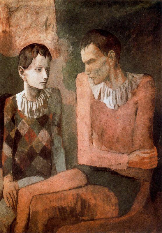 Пабло Пикассо. Акробат и Арлекин