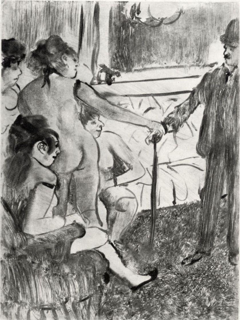 Edgar Degas. Serious client