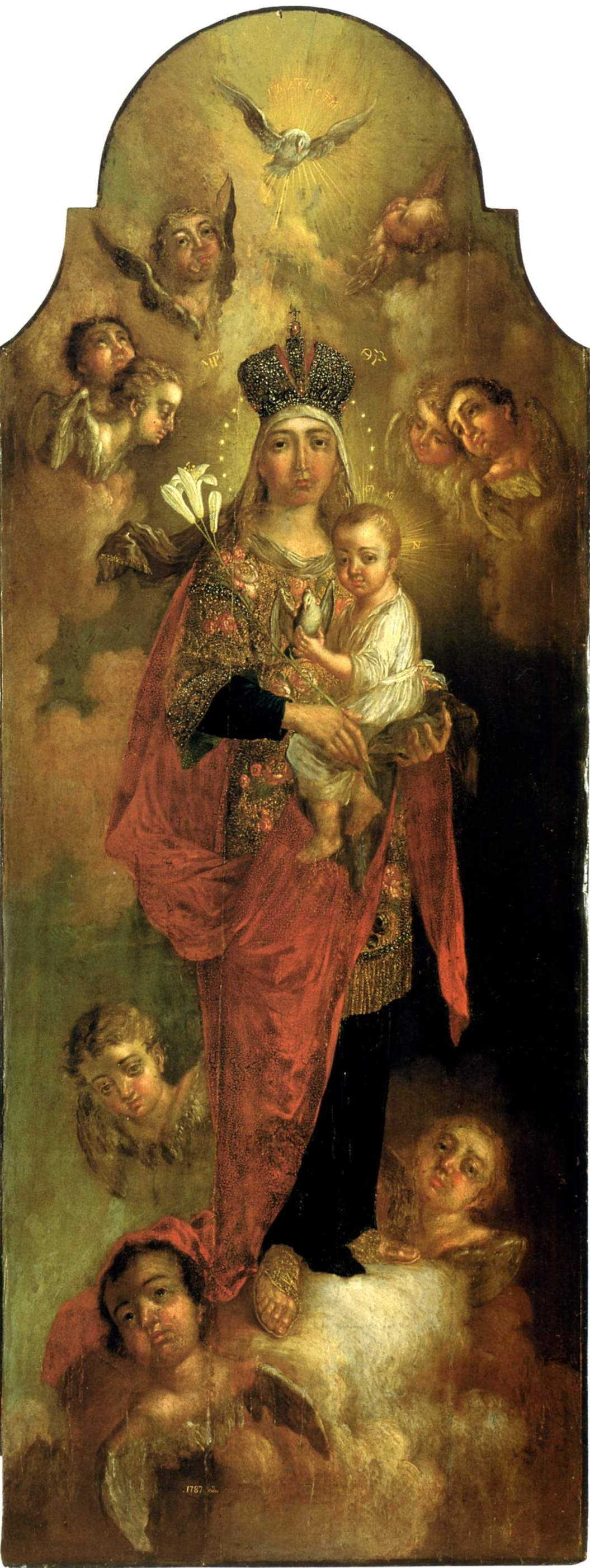 Vladimir Borovikovsky. The virgin and child