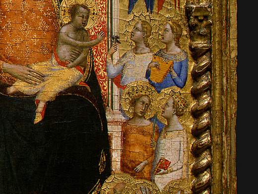 Bernardo Daddy. Madonna and child with angels (detail)