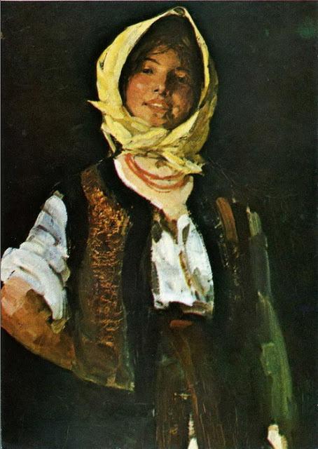 Николае Григореску. Веселая крестьянка
