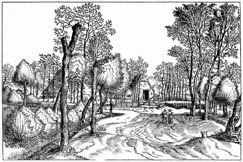 Питер Брейгель Старший. Серия Малые пейзажи, пейзаж №2
