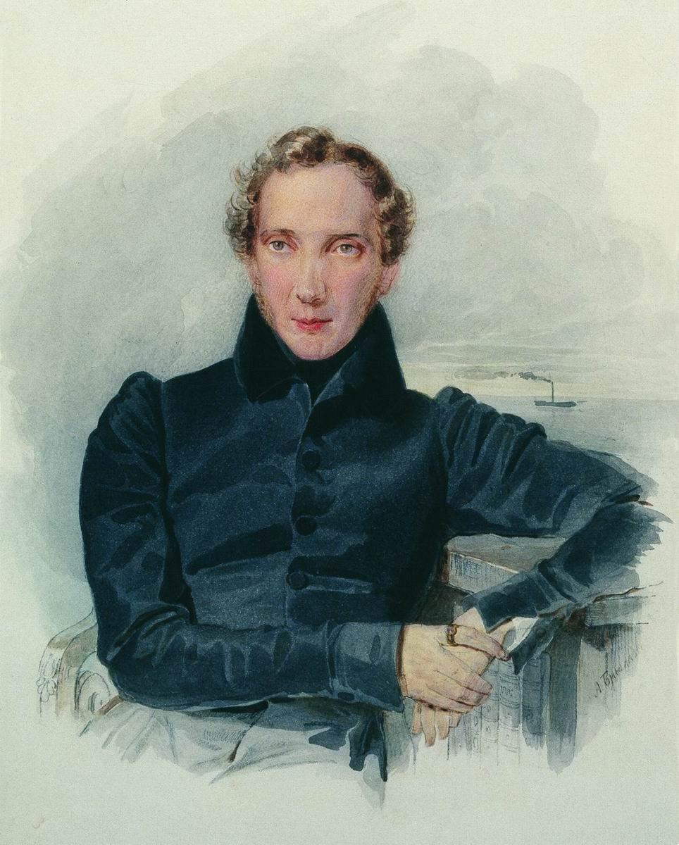 Александр Павлович Брюллов. Портрет А. А. Оленина. 1830