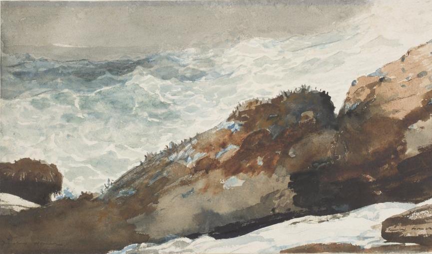 Winslow Homer. The rocky shore. Peninsula Prouts Neck