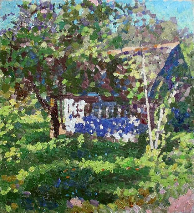 Michael Mine. Blue house