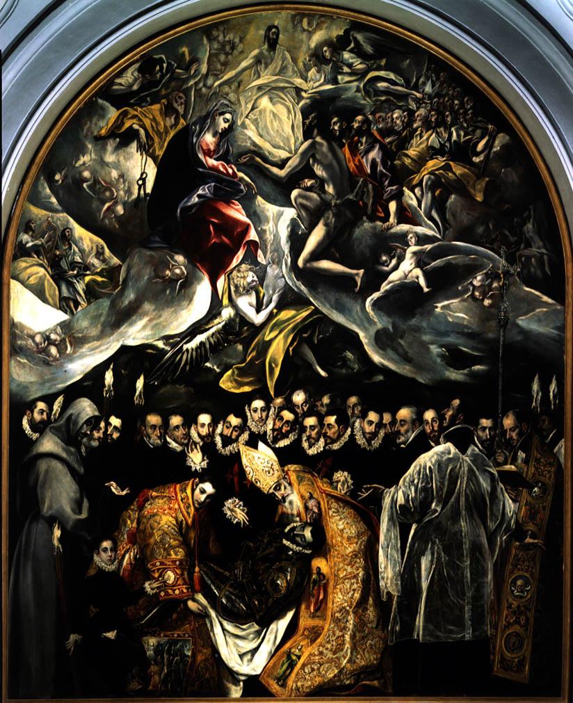 Domenico Theotokopoulos (El Greco). The burial of count Orgaz