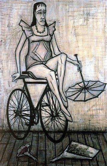Bernard Buffet. Le cirque : Acrobate à la bicyclette