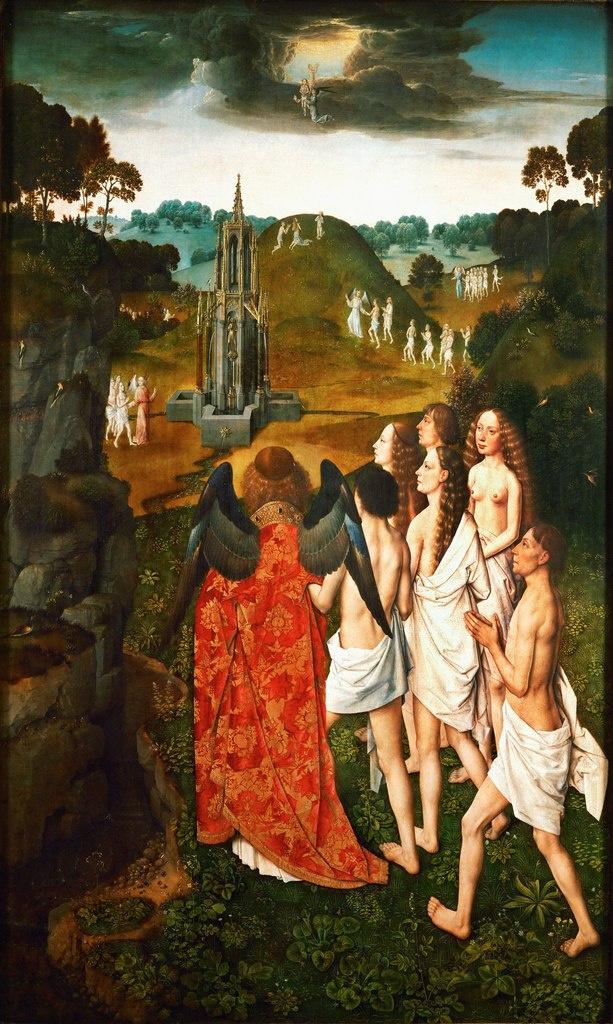 Дирк Баутс. Диптих Ад и Рай. Рай (Архангел Михаил ведёт праведников в рай). 1450-1469