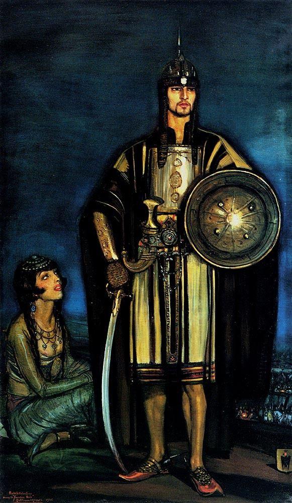 """Federico Beltran Masses. Rudolph Valentino in """"the Black Falcon"""""""