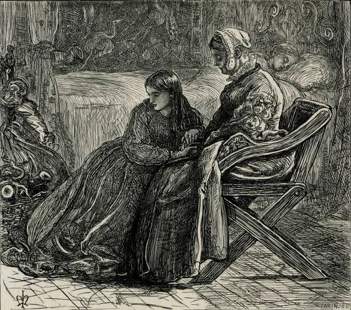 """Джон Эверетт Милле. Испытание сестры Анны. Поэма Кристины Россетти, """"Раз в неделю"""""""