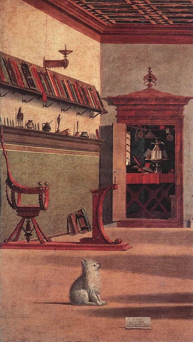 Vittore Carpaccio. The vision of Saint Augustine